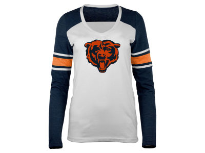 Chicago Bears 5th & Ocean NFL Women's Back Block Long Sleeve T-Shirt