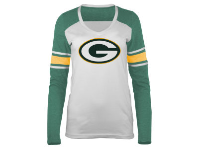 Green Bay Packers 5th & Ocean NFL Women's Back Block Long Sleeve T-Shirt