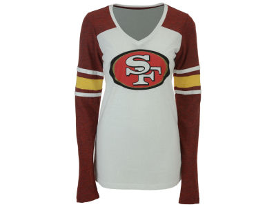San Francisco 49ers 5th & Ocean NFL Women's Back Block Long Sleeve T-Shirt