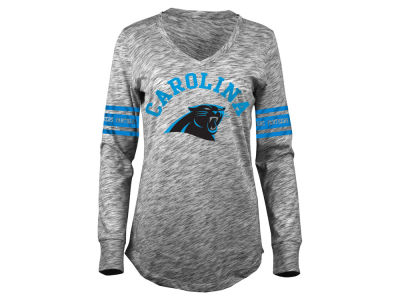 Carolina Panthers 5th & Ocean NFL Women's Space Dye Long Sleeve T-Shirt
