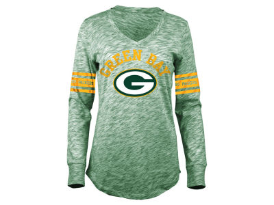 Green Bay Packers 5th & Ocean NFL Women's Space Dye Long Sleeve T-Shirt