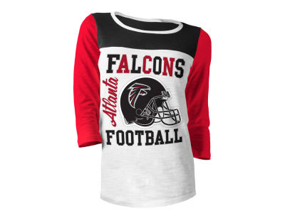 Atlanta Falcons 5th & Ocean NFL Women's Glitter 3/4 Sleeve T-Shirt