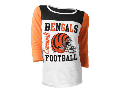 Cincinnati Bengals 5th & Ocean NFL Women's Glitter 3/4 Sleeve T-Shirt