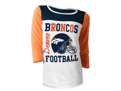 Denver Broncos 5th & Ocean NFL Women's Glitter 3/4 Sleeve T-Shirt