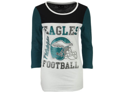 8dc57cd8e Philadelphia Eagles 5th   Ocean NFL Women s Glitter 3 4 Sleeve T-Shirt