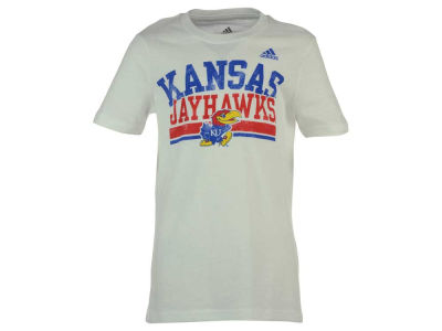 Kansas Jayhawks adidas NCAA Youth Girls Collegiate Weathering T-Shirt