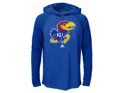 Kansas Jayhawks adidas NCAA Youth Ultimate Long Sleeve Hooded T-Shirt