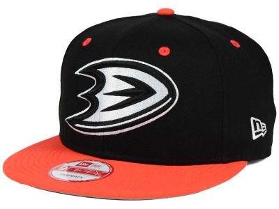 Anaheim Ducks New Era NHL Black White Team Color 9FIFTY Snapback Cap