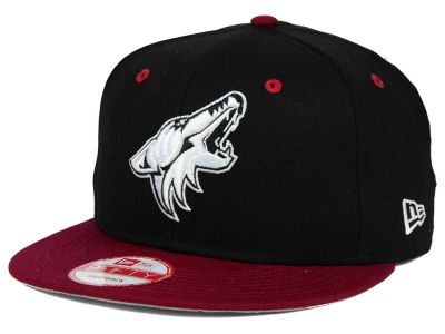 Arizona Coyotes New Era NHL Black White Team Color 9FIFTY Snapback Cap