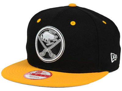 Buffalo Sabres New Era NHL Black White Team Color 9FIFTY Snapback Cap