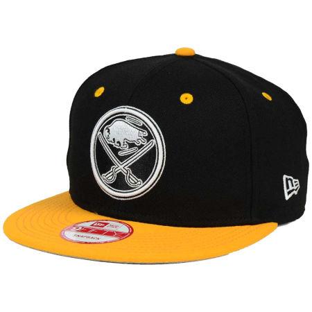 Buffalo Sabres New Era NHL Black White Team Color 9FIFTY Snapback Cap