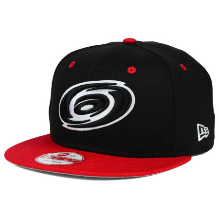 Carolina Hurricanes New Era NHL Black White Team Color 9FIFTY Snapback Cap