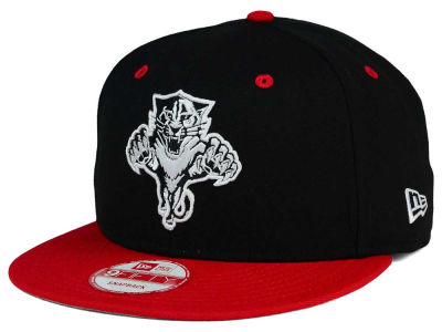 Florida Panthers New Era NHL Black White Team Color 9FIFTY Snapback Cap