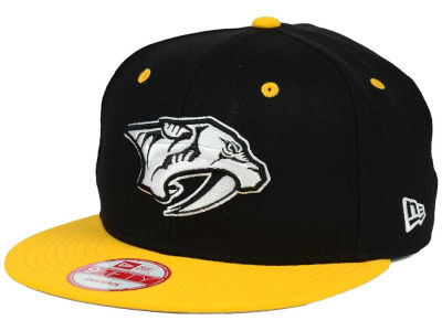 Nashville Predators New Era NHL Black White Team Color 9FIFTY Snapback Cap