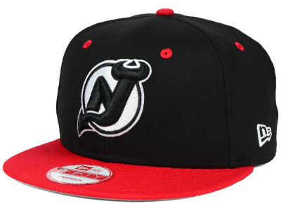 New Jersey Devils New Era NHL Black White Team Color 9FIFTY Snapback Cap