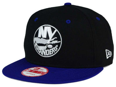 New York Islanders New Era NHL Black White Team Color 9FIFTY Snapback Cap