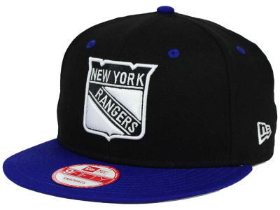New York Rangers New Era NHL Black White Team Color 9FIFTY Snapback Cap
