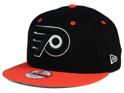 Philadelphia Flyers New Era NHL Black White Team Color 9FIFTY Snapback Cap
