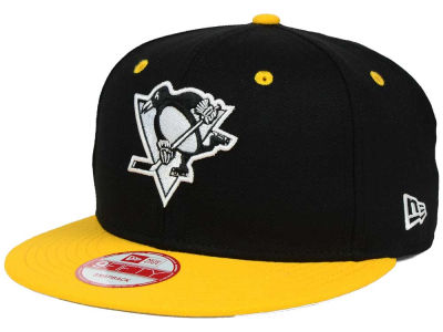 Pittsburgh Penguins New Era NHL Black White Team Color 9FIFTY Snapback Cap
