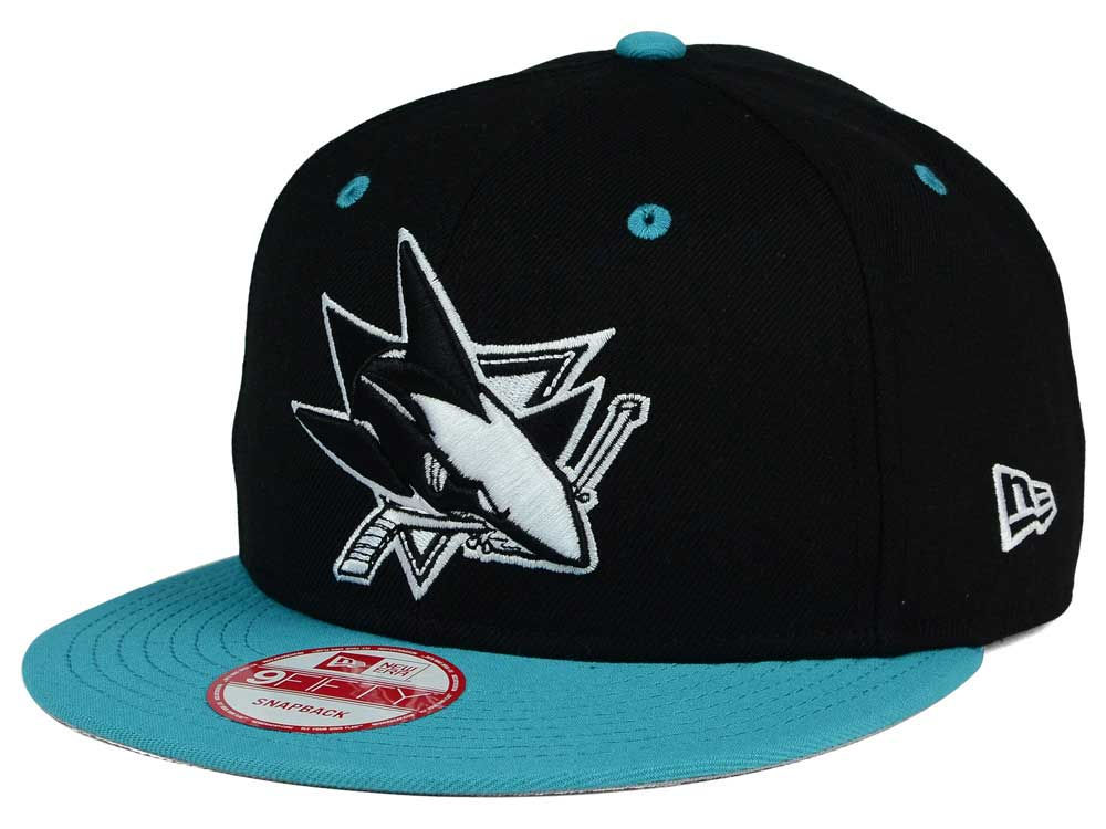 68e0868f8 ... usa san jose sharks new era nhl black white team color 9fifty snapback  cap lids 6ff84