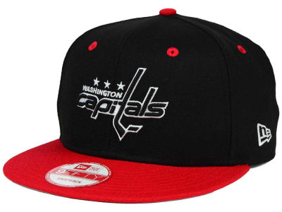 Washington Capitals New Era NHL Black White Team Color 9FIFTY Snapback Cap