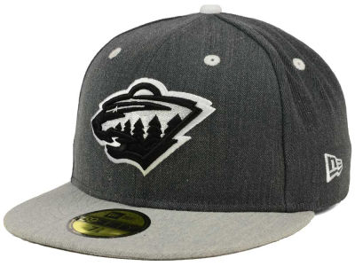 Minnesota Wild New Era NHL Graph on Heather 59FIFTY Cap