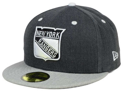 New York Rangers New Era NHL Graph on Heather 59FIFTY Cap
