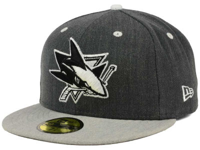 San Jose Sharks New Era NHL Graph on Heather 59FIFTY Cap