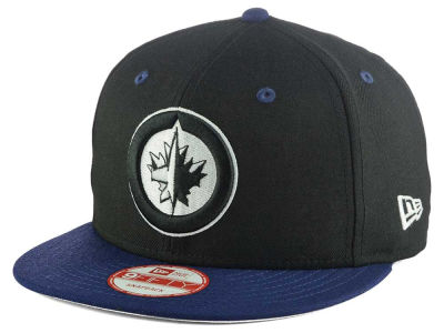 Winnipeg Jets New Era NHL Black White Team Color 9FIFTY Snapback Cap