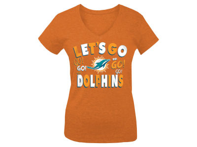 Miami Dolphins 5th & Ocean NFL Youth Girls Lets Go T-Shirt