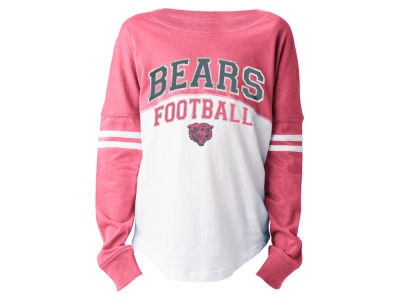 Chicago Bears 5th & Ocean NFL Youth Girls Pink Sweeper Long Sleeve T-Shirt