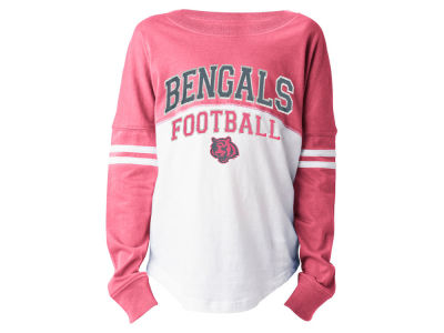 Cincinnati Bengals 5th & Ocean NFL Youth Girls Pink Sweeper Long Sleeve T-Shirt
