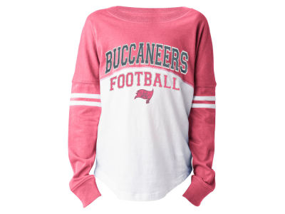 Tampa Bay Buccaneers 5th & Ocean NFL Youth Girls Pink Sweeper Long Sleeve T-Shirt