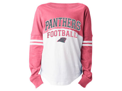Carolina Panthers 5th & Ocean NFL Youth Girls Sweeper Long Sleeve T-Shirt