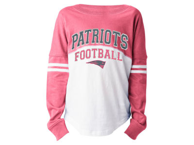 New England Patriots 5th & Ocean NFL Youth Girls Pink Sweeper Long Sleeve T-Shirt