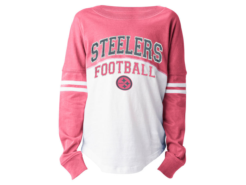 f5778b2ca Pittsburgh Steelers 5th   Ocean NFL Youth Girls Pink Sweeper Long Sleeve T- Shirt
