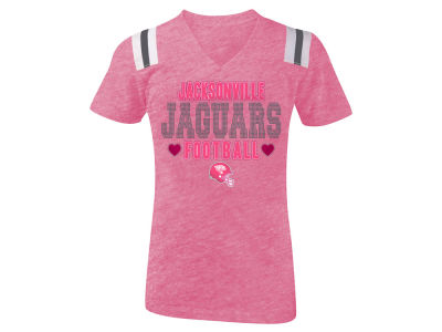 Jacksonville Jaguars 5th & Ocean NFL Youth Girls Heart Football T-Shirt
