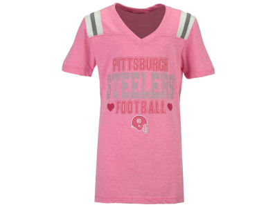 Pittsburgh Steelers 5th & Ocean NFL Youth Girls Heart Football T-Shirt
