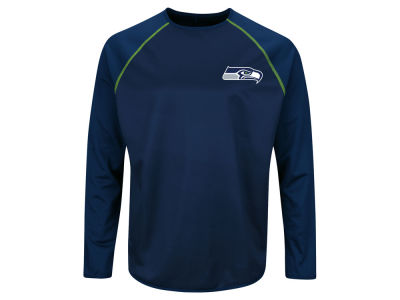 Seattle Seahawks Majestic NFL Men's Rival Vision Crew Sweatshirt