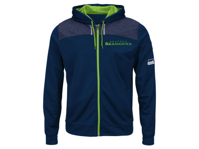 Seattle Seahawks Majestic NFL Men's Game Elite Full Zip Hoodie
