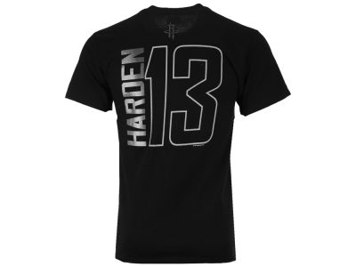 Houston Rockets James Harden Majestic NBA Men's Vertical Foil Player T-Shirt