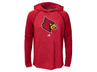 Louisville Cardinals adidas NCAA Youth Ultimate Long Sleeve Hooded T-Shirt