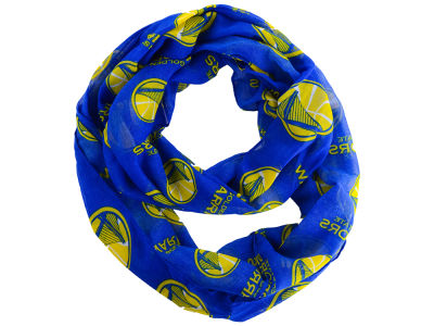 Golden State Warriors All Over Logo Infinity Wrap Scarf