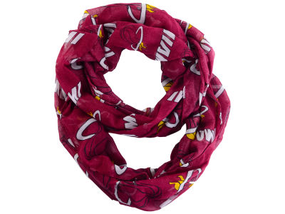 Miami Heat All Over Logo Infinity Wrap Scarf