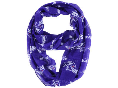 Baltimore Ravens All Over Logo Infinity Wrap Scarf