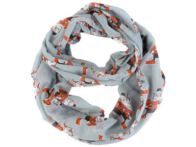 Cleveland Browns All Over Logo Infinity Wrap Scarf