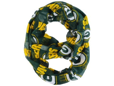 Green Bay Packers All Over Logo Infinity Wrap Scarf