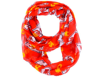 Kansas City Chiefs All Over Logo Infinity Wrap Scarf