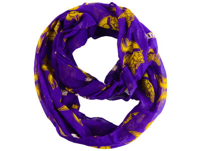 Minnesota Vikings All Over Logo Infinity Wrap Scarf