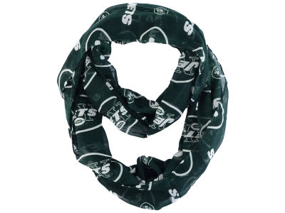 New York Jets All Over Logo Infinity Wrap Scarf